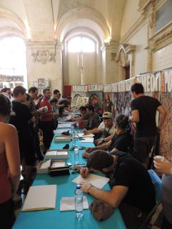 La table des Comic Artists