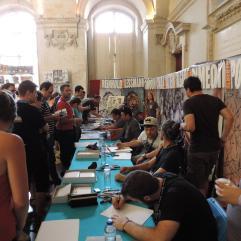 La table des Comic Artists