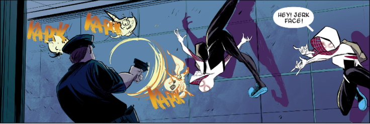 Edge of Spider-Verse 002-007 Jerk Face