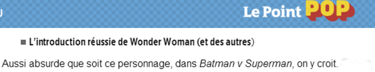 Non, Batman v Superman n'est pas raté - Le Point