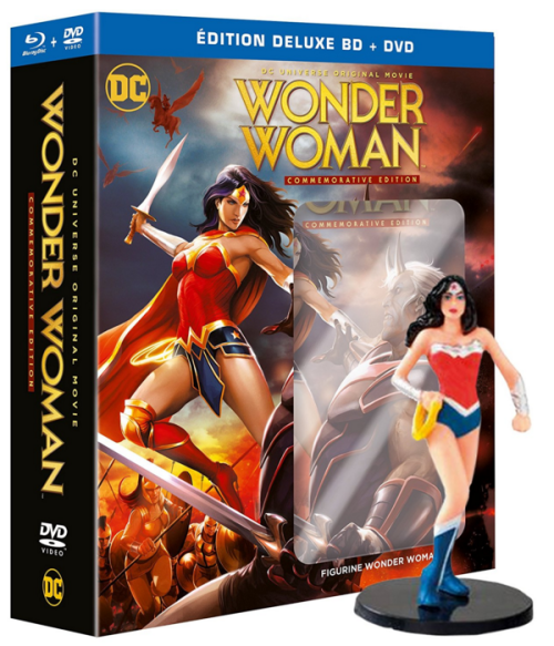 Wonder Woman Édition Commemorative Deluxe - Blu-ray + DVD + Figurine Amazon
